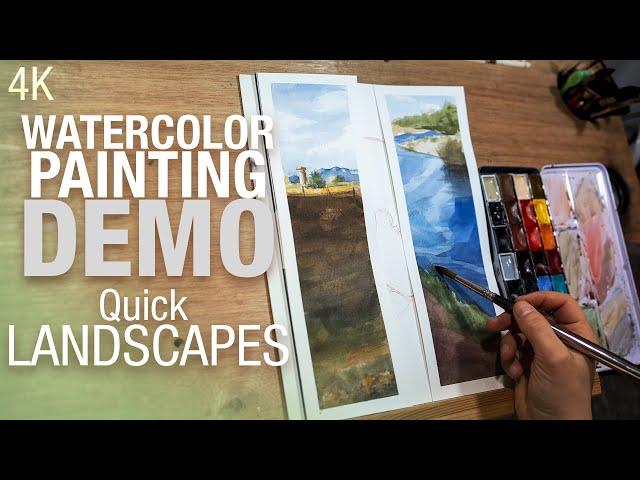 🎨 ⛰️ Comment peindre un paysage rapidement à l'aquarelle