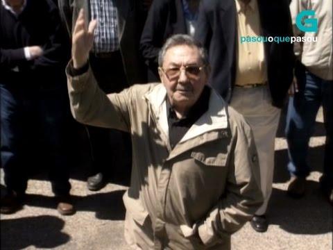 Visita de Raúl Castro a Galicia no ano 2005