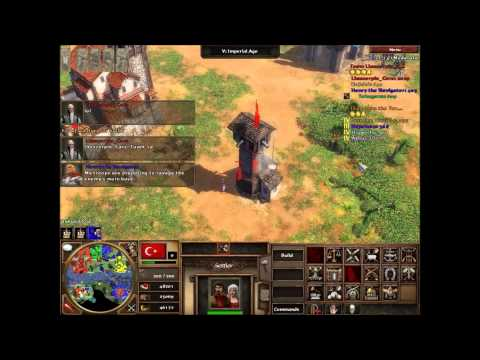 Age of Empires III Asian Dynasties 4v4 Amazonia Mulitiplayer (HD)