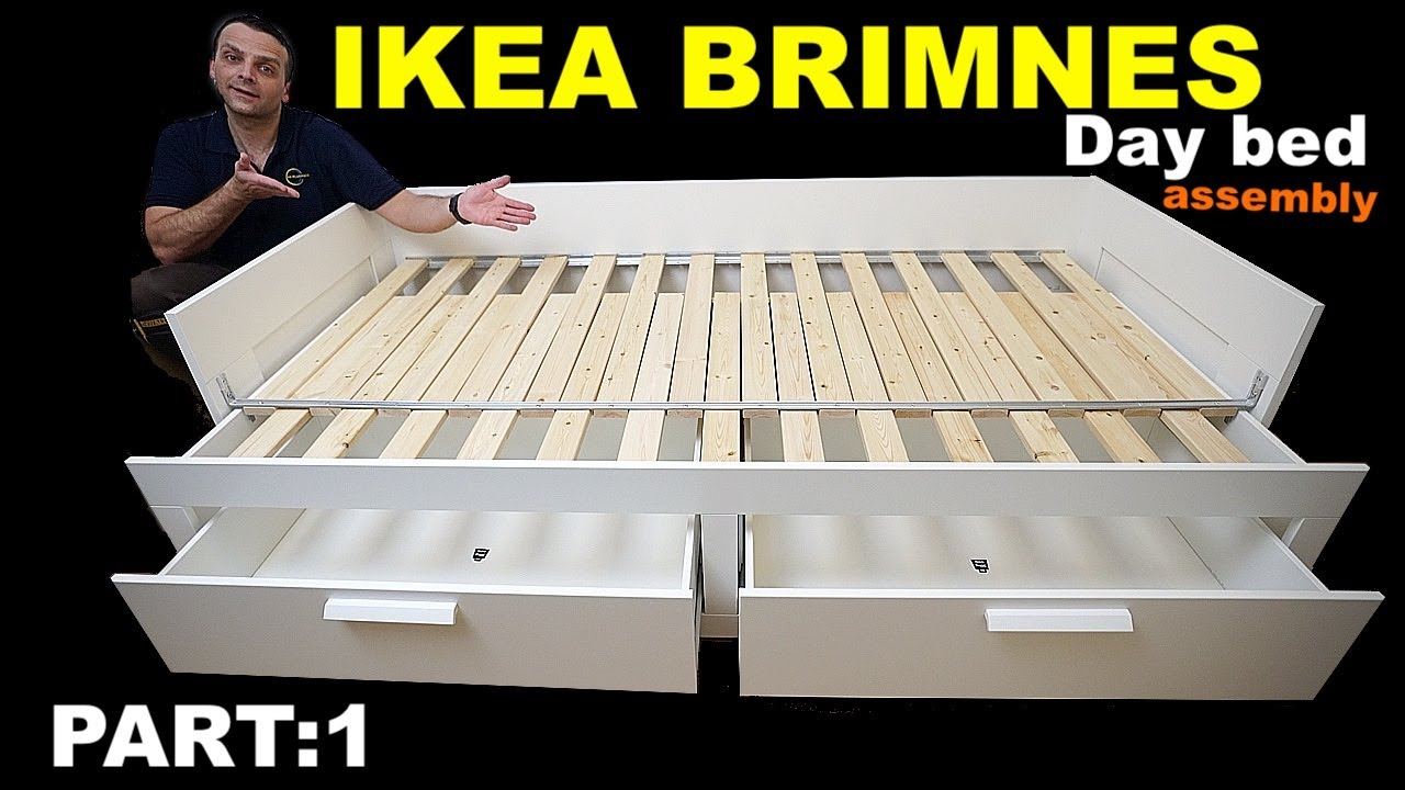 Ikea Brimnes Day Bed Assembly Instructions Part 1 Youtube
