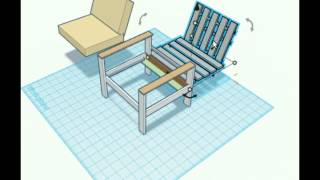 Pallet Chair Design / Fa Szék Terv