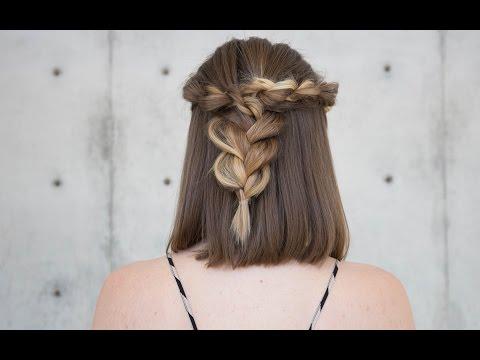 Vidéo : une coiffure avec des tresses sur un carré