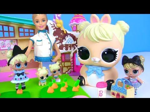 Куклы ЛОЛ СЮРПРИЗ МУЛЬТИК! Завтрак с грядки для  LOL Surprise Dolls и Чай с Молоком от Барби!