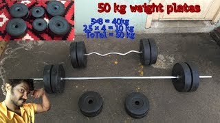 Gym Equipment 50 KG Weight Plates Unboxing and Reviews   Tamil   Vinothjustice