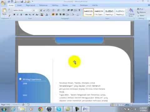 how to make cv in ms word 2007 2010 using templates