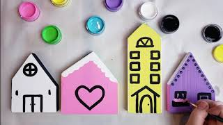 DIY Wood Village Kit Painting Tutorial