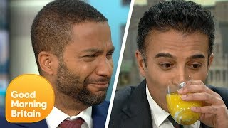 GMB Try Weird Food Combinations Such as Toothpaste in Orange Juice | Good Morning Britain
