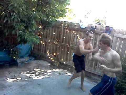 Chris's backyard fight - YouTube