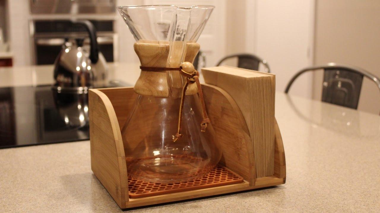 Medium Glass Handle Blue Horse Cozy for Chemex Coffee Maker