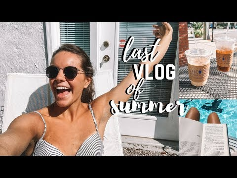 school supplies shopping, pool, & downtown | last vlog of summer