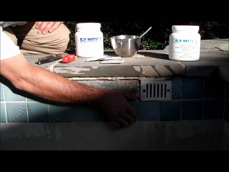 How to repair pool tile part 1 youtube How to pull yourself out of a swimming pool