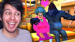 LA PROFESORA se ENAMORA del GORILA !! - Scary Teacher 3D