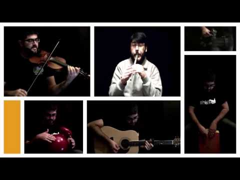 The Old Bush - The Jolly Tinker - Ramnee Ceilidh. Tin whistle, Fiddle, Bouzouki