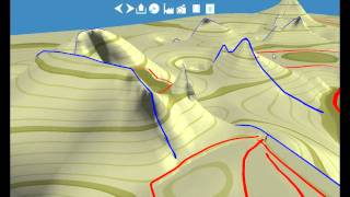 Real-time Terrain Modeling using CPU--GPU Coupled Computation