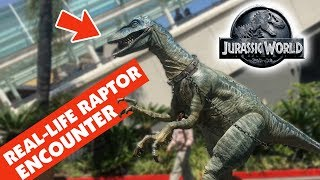 REAL-LIFE RAPTOR ENCOUNTER at Jurassic Park Universal Studios Hollywood || Keith