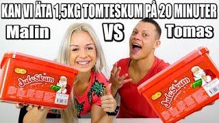KAN VI ÄTA 1,5KG TOMTESKUM PÅ 20 MINUTER *5000 kalorie challenge*