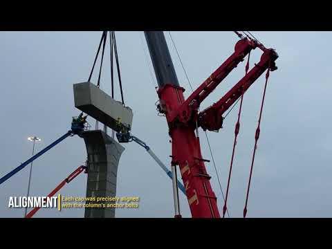 TNT Crane & Rigging Lifting 200,000 Lbs Column Caps