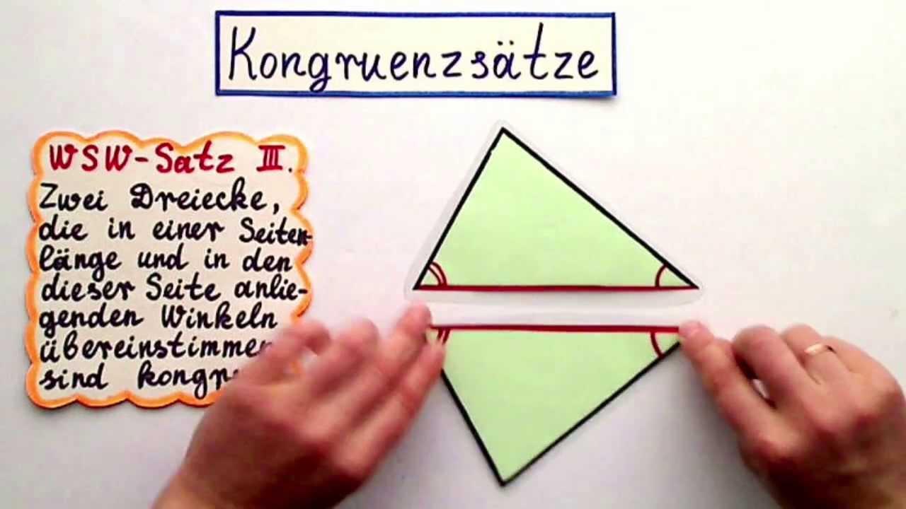 Kongruenzsätze Theorie und praktische Übungen Konstruktionen 1 - YouTube