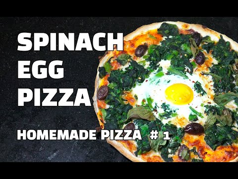 Spinach Egg Pizza Homemade Pizza