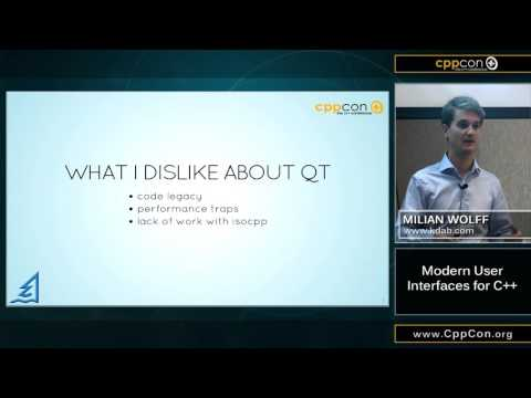 """CppCon 2015: Milian Wolff """"Modern User Interfaces for C++"""""""