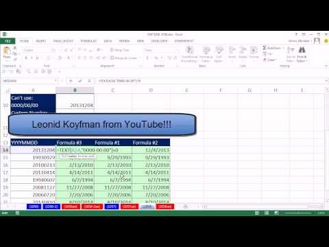 Excel Magic Trick 1058: Convert YYYYMMDD To Serial Number Date With =TEXT(A1,
