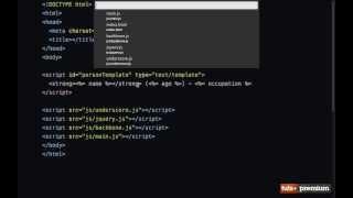 Backbone JS External Templates - 08 tutsplus