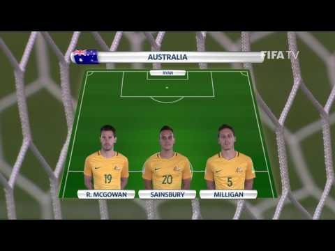 Match 12: Chile v Australia -Team Lineups - FIFA Confederations Cup 2017