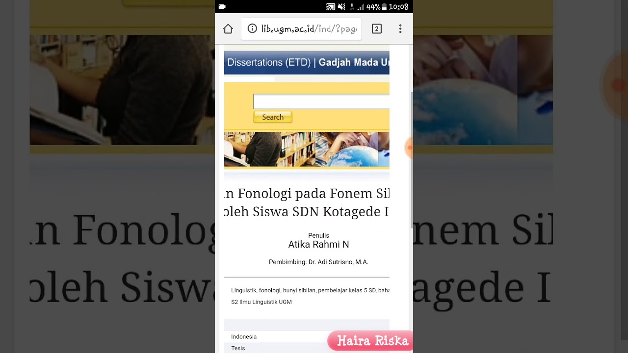 Cara Membaca Mendownload Skripsi Atau Publikasi Ilmiah Di Internet Via Repository Kampus Youtube