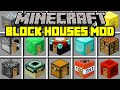 Minecraft BLOCK HOUSES MOD! | SPAWN INSTANT BLOCK HOUSES IN SECONDS! | Modded Mini-Game