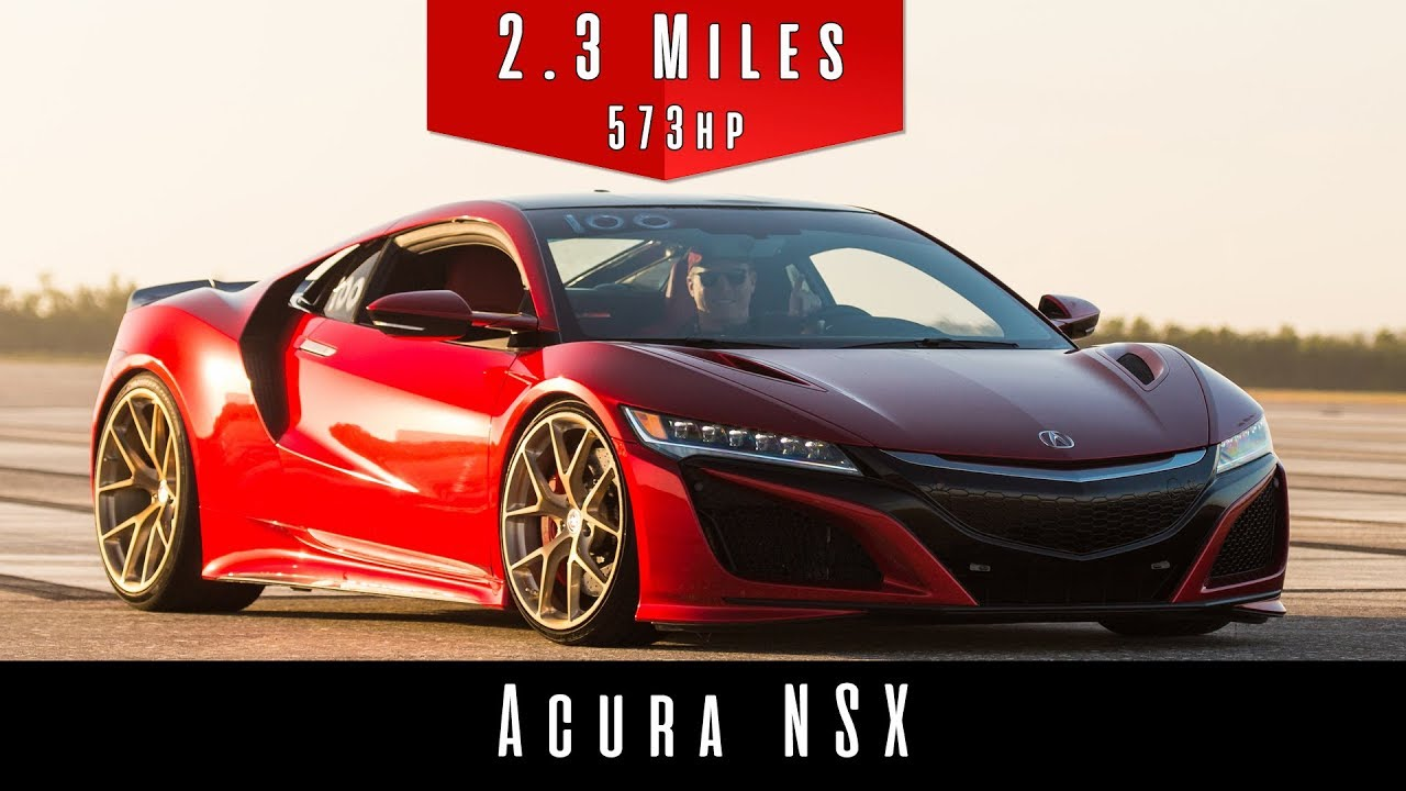2017 Acura NSX (Top Speed Test) - YouTube