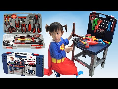Siêu Nhân Sửa Xe Ô Tô – Bộ Đồ Chơi Sửa Xe Cho Bé ❤ AnAn ToysReview TV ❤