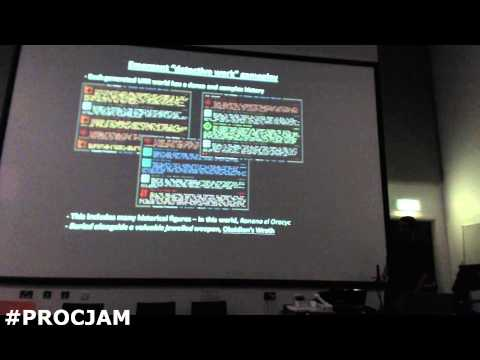 PROCJAM 2014 - Playing With Scale In Procedural Generation: Linking World History To Individual Char