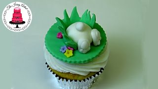 Easter Bunny Bum Cupcake - How To With The Icing Artist
