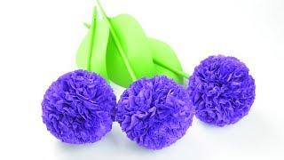 Как сделать красивые цветы из бумаги тишью | DIY Бумажные цветы