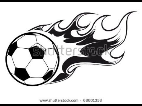 How To Draw A Soccer Ball With Fire