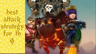 Best attacking strategy for th9 / clash of clans /code_one gaming by y.k./ by yash kumar