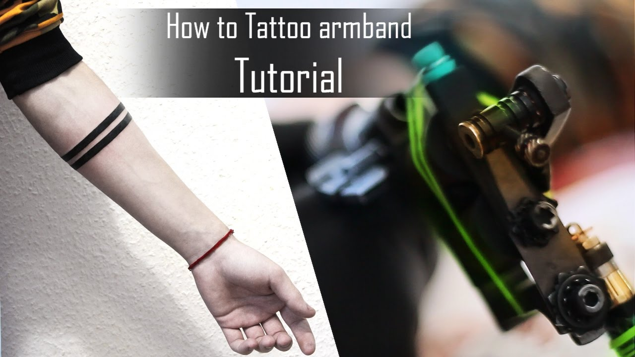 How To Tattoo Armband Tips And Tricks For Beginners Time Lapse