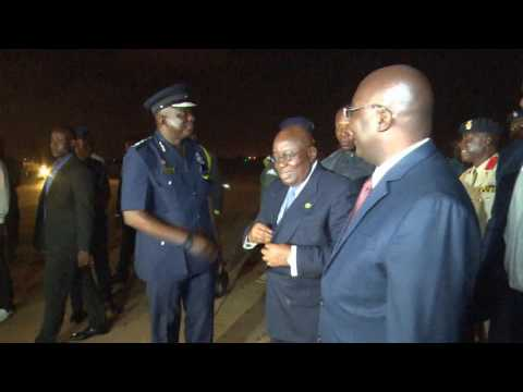 PRESIDENT AKUFO ADDO RETURNS FROM GENEVA AFTER ATTENDING THE 5TH AFRICAN CEO SUMMIT_AKM