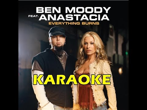 Anastacia Feat. Ben Moody - Everything Burns KARAOKE