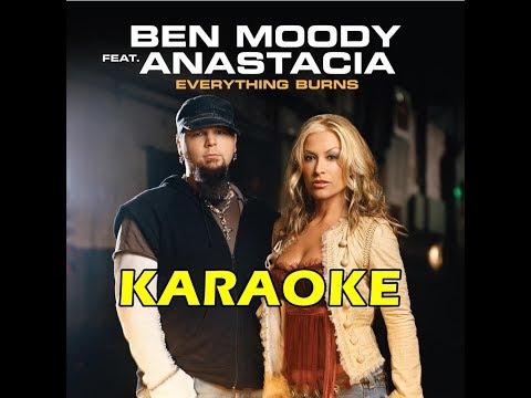 Anastacia Feat. Ben Moody - Everything Burns KARAOKE