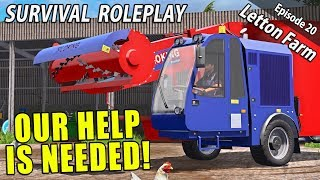 STEVEN BELL NEEDS OUR HELP! | Survival Roleplay | Farming Simulator 17 - Letton Farm - Ep 20
