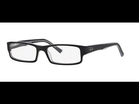 c57716f0fe Ray Ban RX5246 Eyeglasses 2034 TOP BLACK ON TRANSPARENT - YouTube