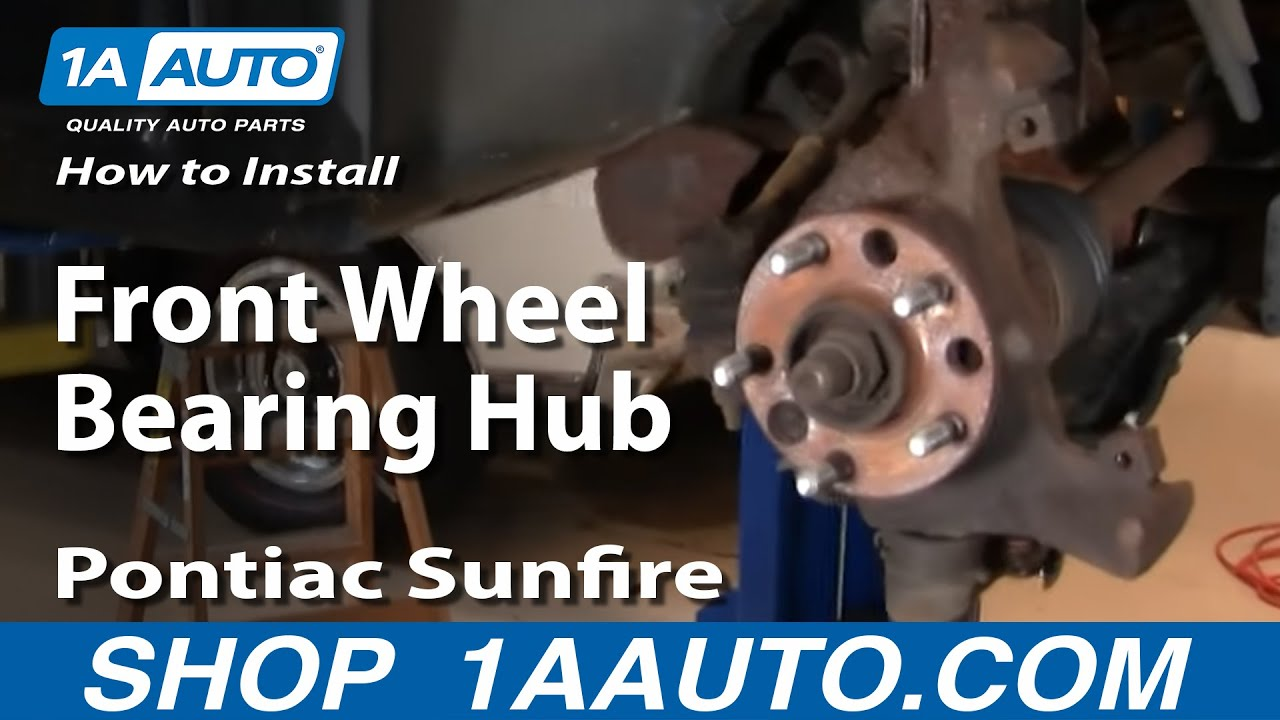 hight resolution of how to replace brake wheel bearing kit 95 05 pontiac sunfire