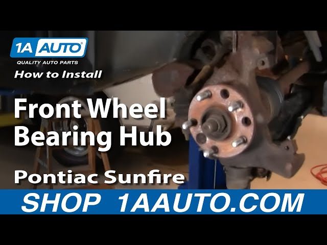 How To Replace Brake Wheel Bearing Kit 95 05 Pontiac