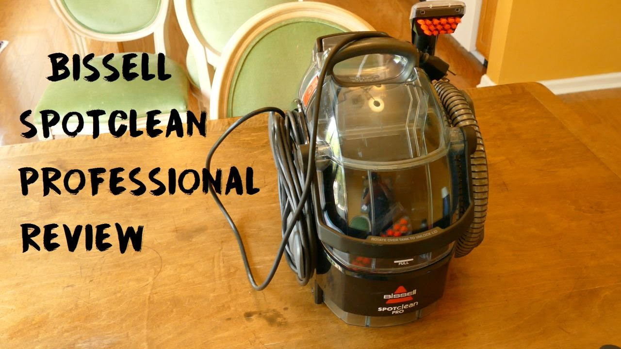 Bissell Spotclean Professional Portable Carpet Cleaner Review Youtube