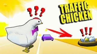 Я БУДУ ЗАЩИЩАТЬ ТЕБЯ! Спасение ЦЫПЛЕНКА в Безумной игре Traffic Chicken от Cool GAMES