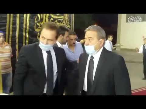 أخبار اليوم | يوسف شعبان يقدم واجب العزاء محمود ياسين