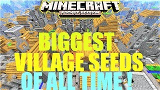 TOP 10 BIGGEST MCPE VILLAGE SEEDS OF ALL TIME ! STRONGHOLDS & MORE | Minecraft PE 1.1.4
