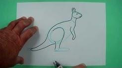 Känguru ganz einfach! Zeichnen nicht nur für Kinder