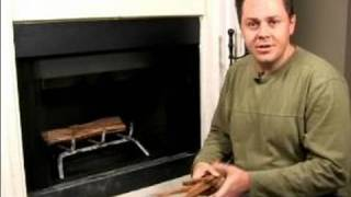 How To Build A Fire In A Fireplace : How To Use Kindling To Start A Fire